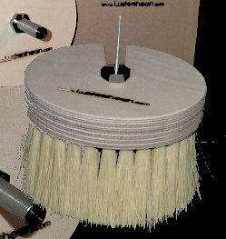Burnisher - wax buffing and burnisher brush